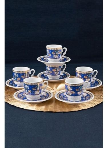 Güral Porselen Güral Porselen Sedef Kahve Fincan Takımı 6 Kişilik SF12CKT084557 Renkli